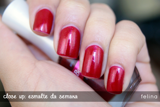 Felina, da Beauty Color. Foto do blog Lipstick Corner.