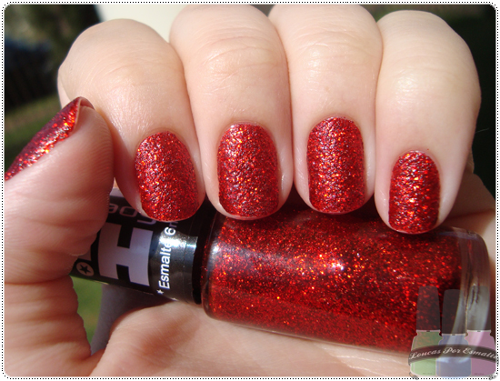Glitter Forte 368, da Hits. Foto do Blog Loucas por Esmalte