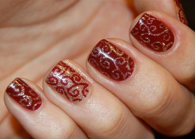 Estampa super fofa. Foto do blog Dressed Up Nails.