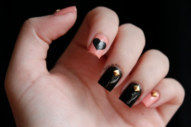 studs and hearts nail art 2