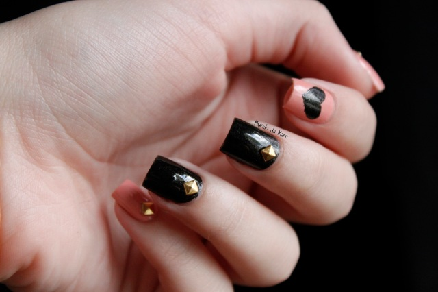 studs and hearts nail art 4