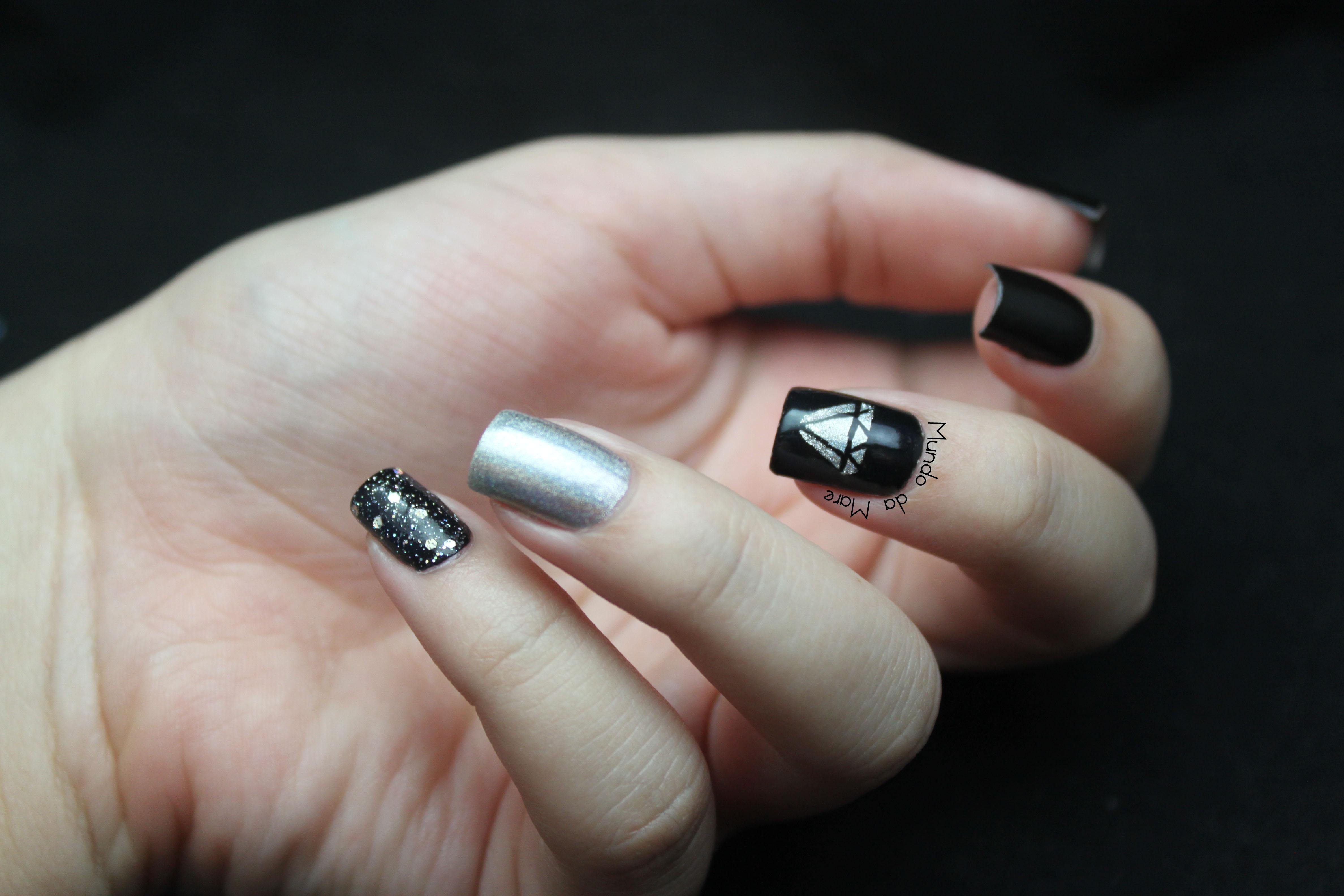 Gold Diamante Nail Art ~ Diamante nail art archive style nails magazine