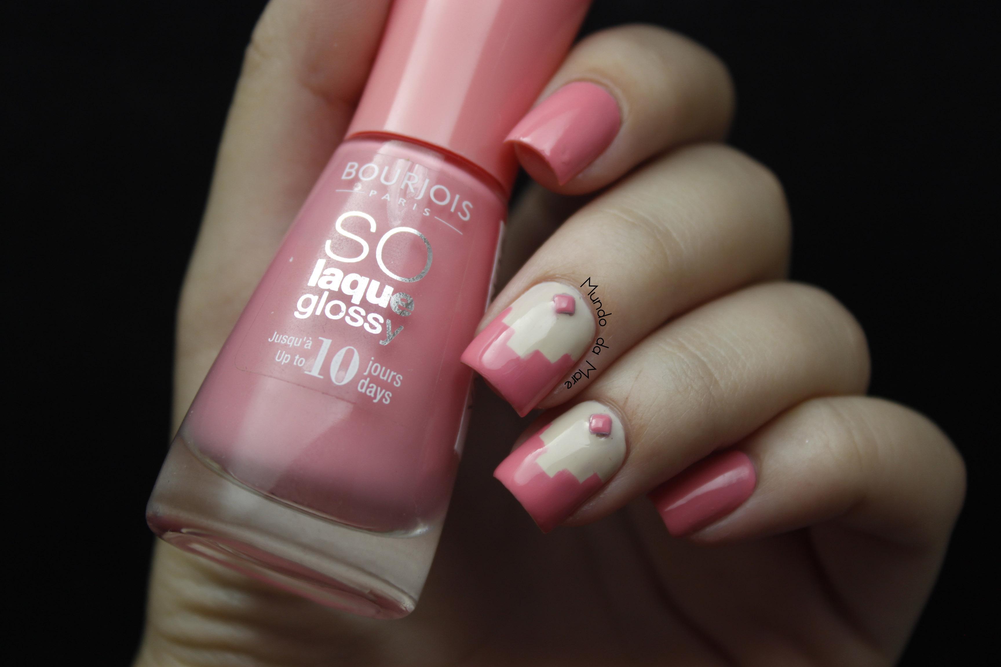 Loves Peach Nail-art-peach-and-love